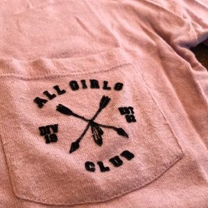 All Girls Club pink sweater